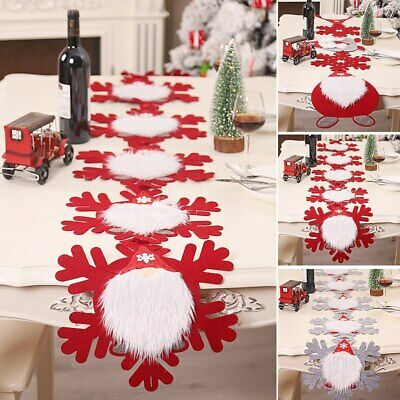 AU20.20 • Buy Christmas Table Runner Snowflakes Shape Tablecloth Placemat Dining Room Decor