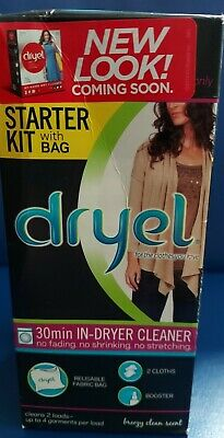£7.26 • Buy Dryel At-Home Dry Cleaning Starter Kit 30 Min In-Dryer Cleaner Original