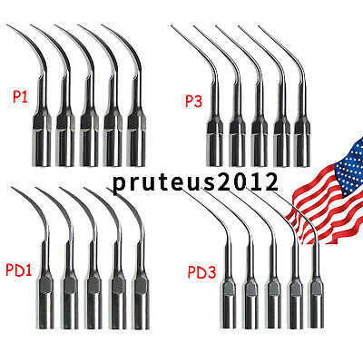 £9.51 • Buy 5 Dental Ultrasonic Piezo Scaler Perio Tips P1 P3 PD1 PD3 Fit EMS/DTE