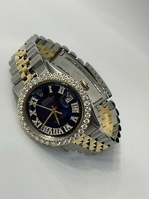 $7500 • Buy Rolex Datejust Two Tone 36mm Jubilee Band Ss Yellow Gold Diamond Dial & Bezel