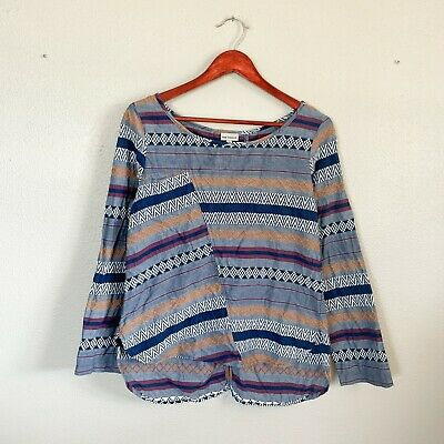 $ CDN23.64 • Buy Anthropologie The Odells Size S Small Blue Multi-Color Striped Shirt Women's