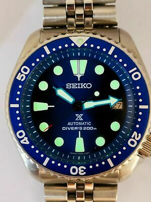$ CDN53.80 • Buy Seiko Diver 7002-7000 Lovely Save The Ocean Mod Automatic Mens Watch Sn. 400515