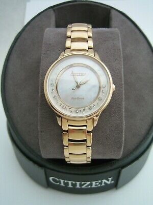 £159.99 • Buy Citizen Eco Drive Watch Em0382-86d Womens Circle Of Time Diamond Stainless Steel