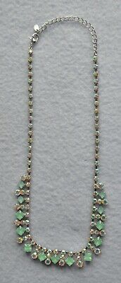 £4 • Buy Oasis Purple & Turquoise Reflective Glass Necklace 19  Long