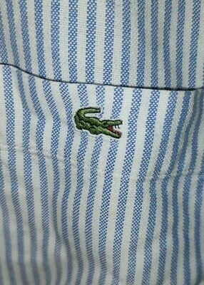 £9.50 • Buy Lacoste Large (42) Striped Long Sleeve Shirt Casual Oxford Devanlay Blue White