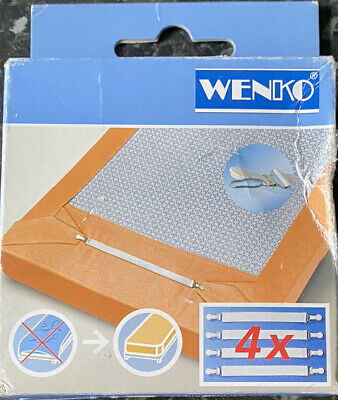 £1.10 • Buy Bed Sheet Stretcher Bed Sheet Holder Straps Grippers Wenko Universal Size