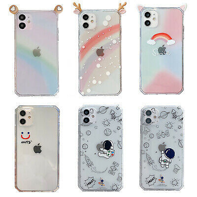 £4.20 • Buy 3D DIY Bunny Deer Ears Rainbow Soft TPU Case Cover For IPhone 12 Pro Max 11