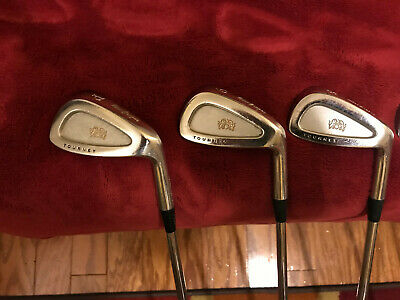 $95 • Buy MacGregor Tourney PCB Tour Irons, 4-9, S300, No Pitching Wedge, 6 Clubs Total