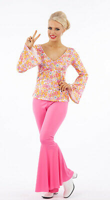 £15 • Buy Adult Ladies 60's 70's 2PC. Hippie Costume World Book Day Womens FREE POST
