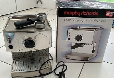 £30 • Buy Morphy Richards Roma Pump Espresso Cappuccino Coffee Maker Milk Frother - Box