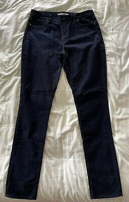 £10 • Buy Lands End Navy Cord Jeans, UK16, BNWT