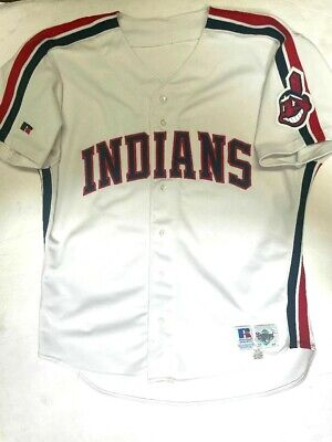 $249.99 • Buy CLEVELAND INDIANS AUTHENTIC RUSSELL ATHLETIC SIZE 48 VINTAGE 1990s JERSEY