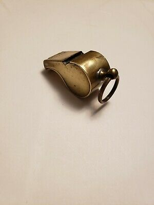 $20.99 • Buy Vintage WWII MILITARY Regulation US Army BRASS WHISTLE Perfect Working Condition