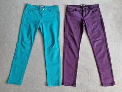 £20 • Buy ⭐ New Look ⭐ Yes Yes Summer Jeans Size 14 Gorgeous Bright Turquoise & Purple