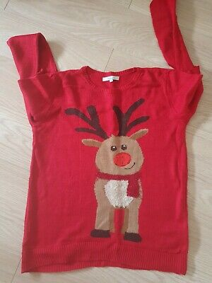 £3.50 • Buy Red Rudolph Christmas Jumper Size S From Peacocks