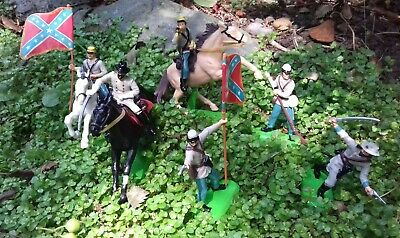 £18 • Buy Britains 1971 Civil War Confederate Cavalry And Infantry Group Of 6