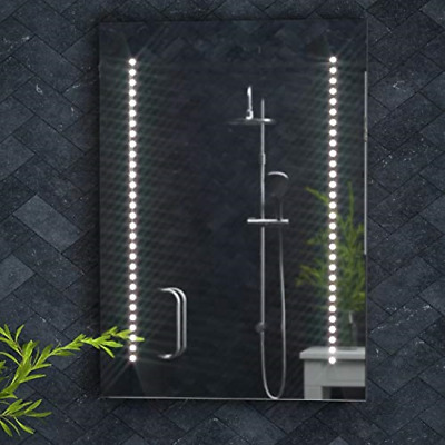 £183.65 • Buy Pebble Grey™ Tannon Plus Illuminated LED Bathroom Mirror With Shaver Socket And