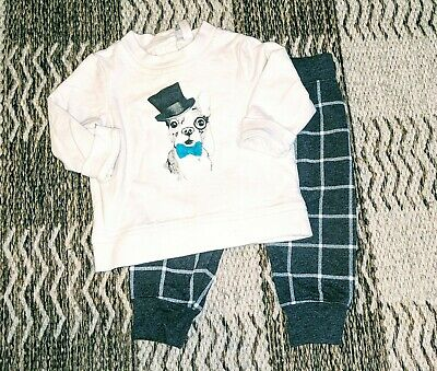 £7.20 • Buy Cherokee Outfit Boston Terrier Bow Tie Baby Boy Size 6-9m