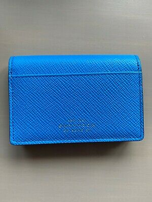 £14.50 • Buy Smythson Panama Business And Credit Card Case / Wallet / Purse In Azure Leather