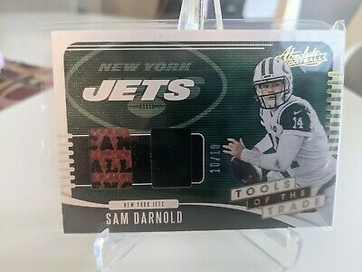 AU10.86 • Buy 2019 Panini Absolute Tools Of The Trade Jersey Relic Sam Darnold 10/10 Panthers