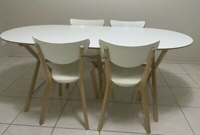 AU280 • Buy Dining Table Set Ikea - 4 Chairs