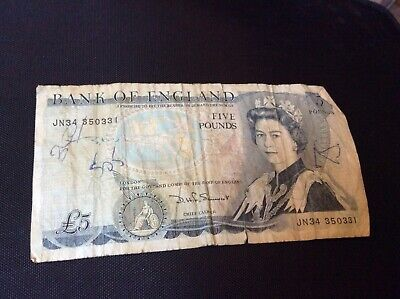 £4.20 • Buy Old British Five Pound Banknote £5 Bank Note