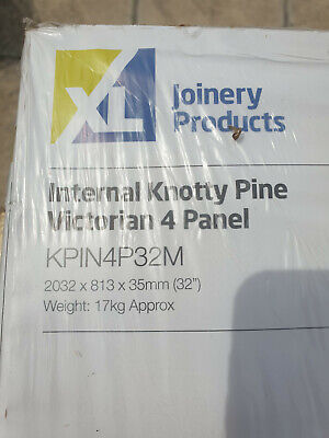 £25 • Buy Four Victorian 4-panel Knotty Pine Interior Doors Brand New, Still Wrapped