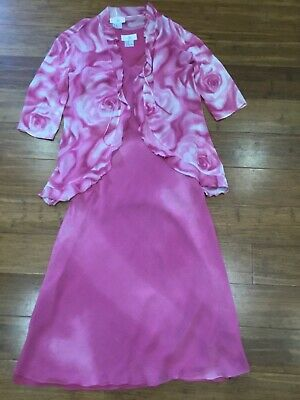 £12 • Buy Simon Ellis Special Occasion Dress With Chiffon Jacket. Dusky Pink. Lovely Cond