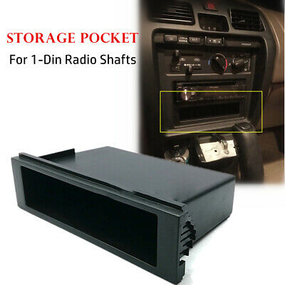 $9 • Buy 1 DIN Radio Compartment Dash Cup Holders Storage Box For Stereo Radio Universal