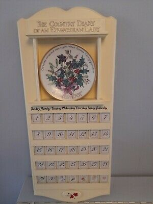 £150 • Buy Country Diary Of An Edwardian Lady Wooden Calendar & 12  Davenport Month Plates