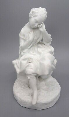 £35 • Buy 19th Century Jean Gilles Bisque French Porcelain Figure Of Seated Girl