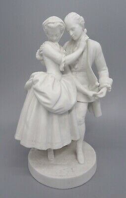 £35 • Buy 19th Century Jean Gilles Bisque French Porcelain Figure Of Romantic Couple