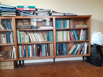 £5 • Buy X2 Book Cases Used Wooden With Glass Doors