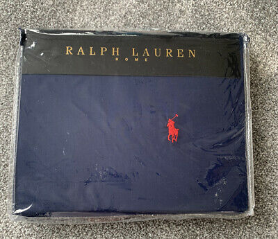 £70 • Buy Ralph Lauren Navy Duvet Cover With Fitted Bed Sheet
