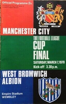 £3.99 • Buy LEAGUE CUP FINAL PROGRAMME 1970 Manchester City V West Brom EXC COND