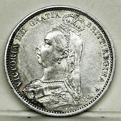 £1.04 • Buy UK 1888 Victoria Sixpence Sterling Silver GEF - UNC Coin Low Mintage