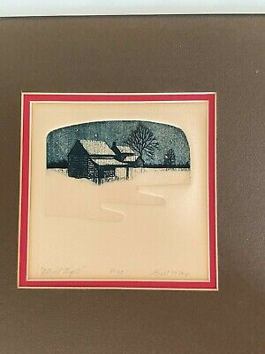 £66.17 • Buy James A. Shell Etching, Aquatint, Signed Limited Ed.  Quiet Nights