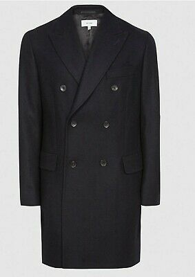 £99.99 • Buy Reiss Wool Cashmere Double Breasted Overcoat Coat - LARGE (worn Once Literally)