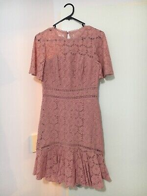 AU20 • Buy Forever New Lace Pink Dress Formal Size 8