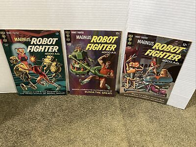 $9.95 • Buy Magnus Robot Fighter #15 20 & 23 (Gold Key 1966/67/68 Silver Age Actual Pics