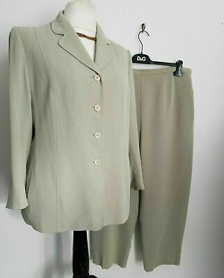 £24.99 • Buy Eastex Trouser Suit Size 20 Pale Green Cropped Smart Occasion Wedding Plus Size