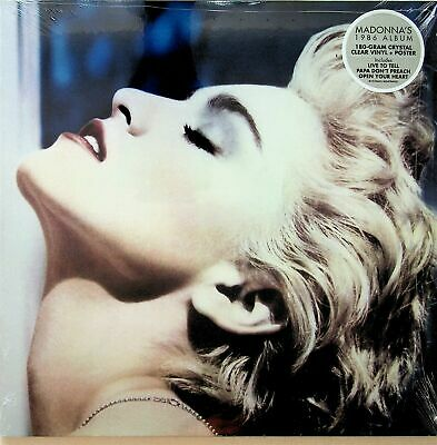 £20.99 • Buy Madonna - True Blue 180G Crystal Clear Vinyl LP & Poster : NEW & FACTORY SEALED