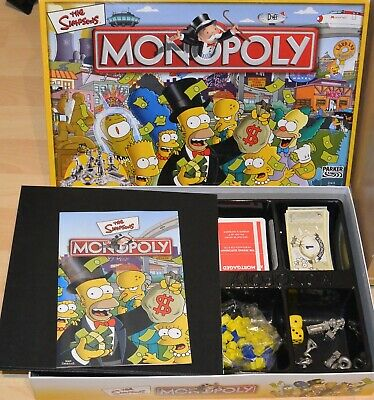 £8.99 • Buy The Simpsons Monopoly Board Game Hasbro Parker 2003 100% Complete VGC