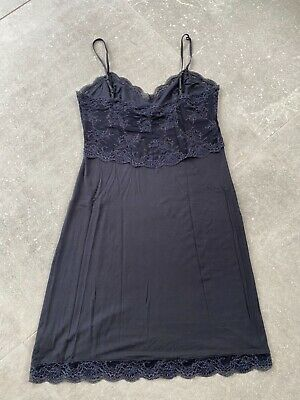 £0.99 • Buy The White Company Navy Lace Night Dress Size Small