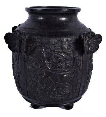 £195 • Buy AN UNUSUAL 19TH CENTURY CHINESE BRONZE VASE Qing