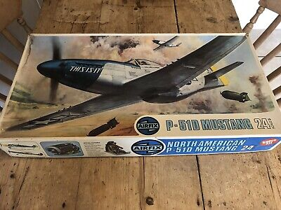 £19.50 • Buy Vintage Airfix P-51D Mustang 24th Scale Model Kit No 1401