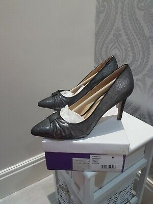 £21 • Buy Ladies Lotus Court Shoes Size 6 Pewter Wedding Special Occasion Bnib Cost £89