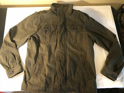 $24.99 • Buy Old Navy Mens Large Army Green Cargo Utility Quilted Jacket Coat Excellent Cond.