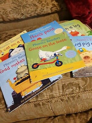 £4 • Buy Usbourne Phonics Readers Set Of 6 Educational Books With Flaps