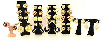 $ CDN12.58 • Buy HIGH QUALITY HIGH END VINTAGE 1980's DESIGNER EARRING LOT 23 PAIRS *NOS*VARIETY*